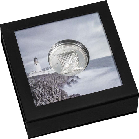 2020 Isle of Man 2 Ounce One Noble Piedfort Silver Proof Coin
