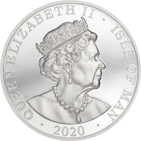 2020 Isle of Man 2 Ounce One Noble Piedfort High Relief Silver Coin