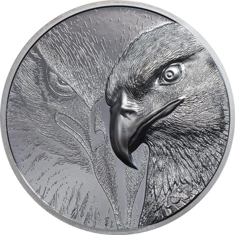 2020 Mongolia 2 Ounce Majestic Eagle Black Proof Silver Coin