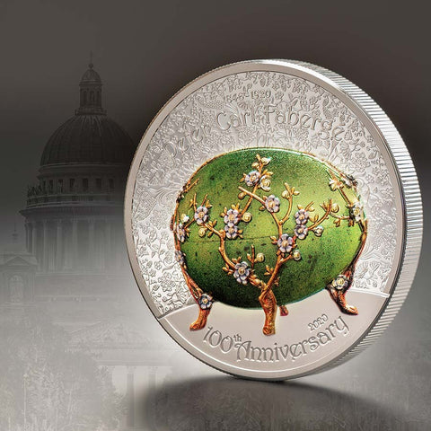 2020 Peter Carl Faberge Egg Silver Proof Coin
