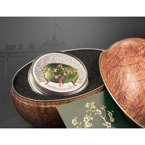 Peter Carl Faberge Egg Silver Coin