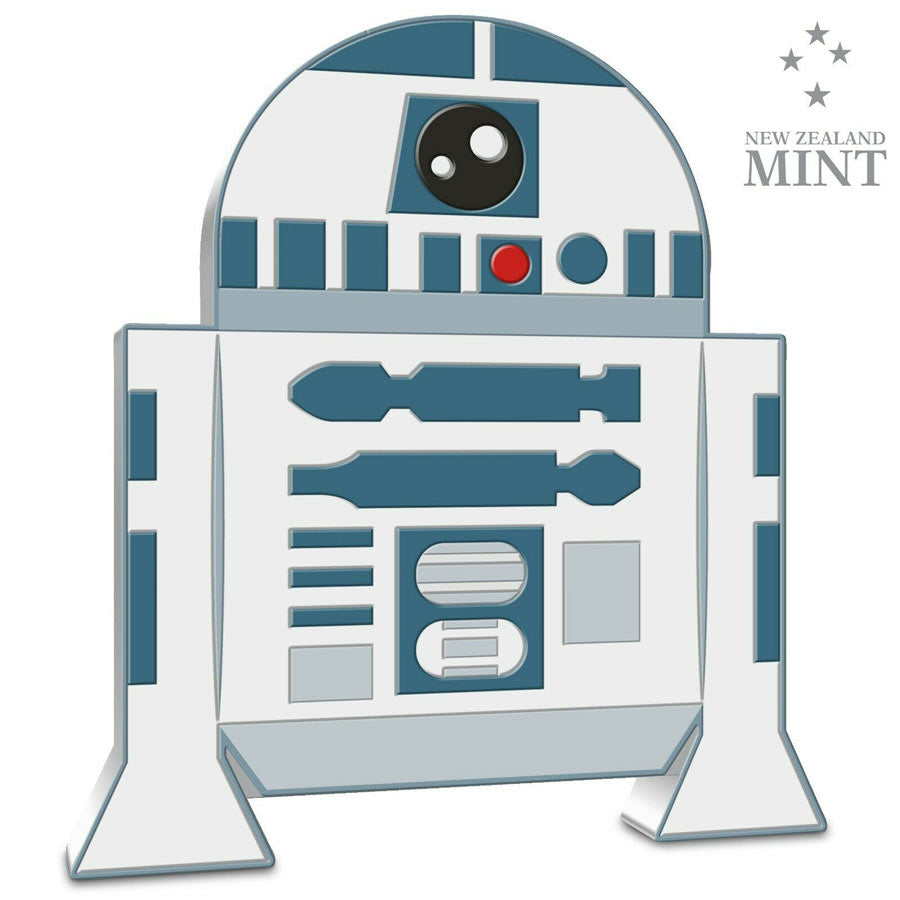 2020 Niue 1 Ounce R2-D2 Chibi Star Wars Series Color Silver Proof Coin