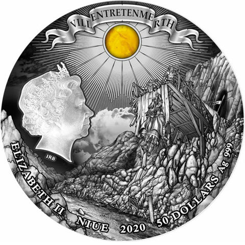 2020 Niue 1 Kilogram Witcher Sword of Destiny High Relief Silver Coin