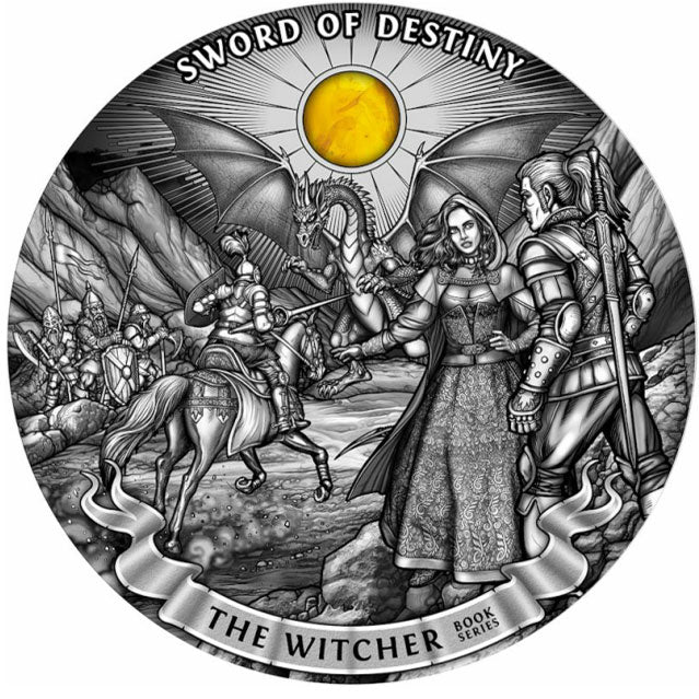 2020 Niue 1 Kilogram Witcher Sword of Destiny High Relief Antique Finish Silver Coin