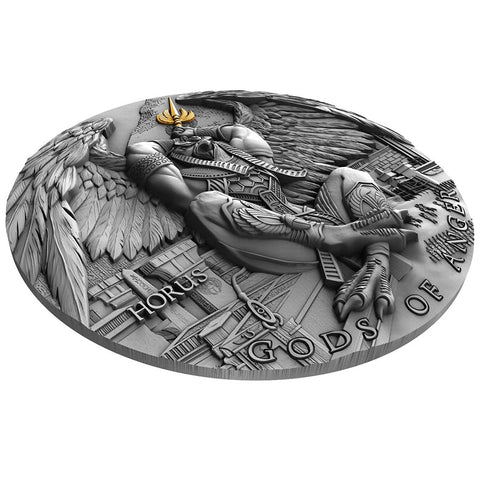 Gods of Anger Horus High Relief Silver Coin