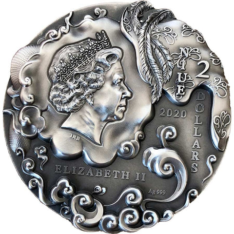 2020 Niue 2 Ounce Sun Wukong Monkey King High Relief Silver Coin