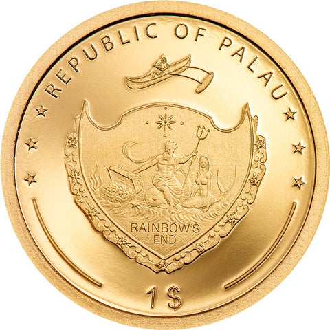 2020 Palau Four Leaf Clover Gold Coin