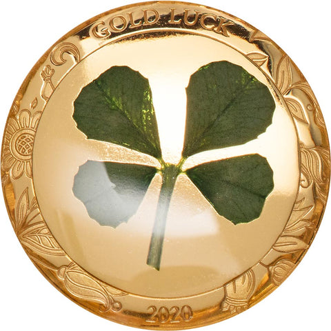 2020 Palau 1 Gram Four Leaf Clover Gold Proof Coin
