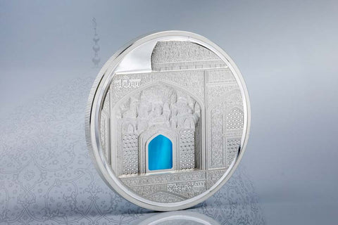 2020 Palau Tiffany Art Isfahan High Relief Silver Proof Coin