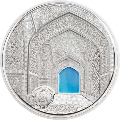 2020 Palau 3 Ounce Tiffany Art Isfahan Silver Proof Coin