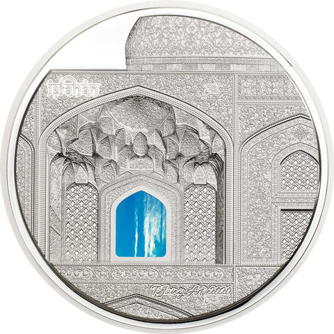 2020 Palau 3 Ounce Tiffany Art Isfahan High Relief Silver Proof Coin