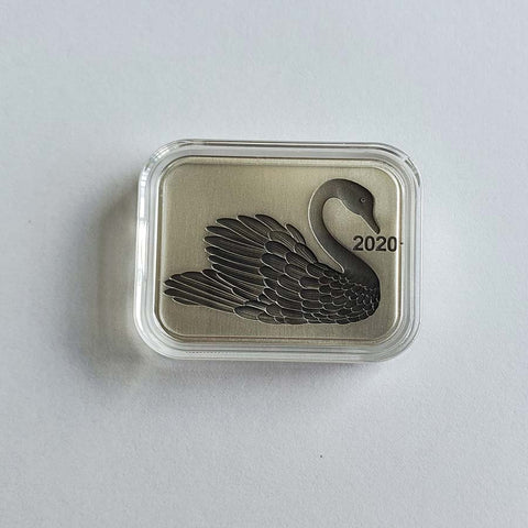 2020 Samoa 2 X 1 Ounce Black Swan High Relief Antique Finish Silver Coin Set