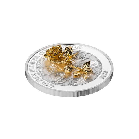 2020 Samoa Golden Flower Rose Silver Coin