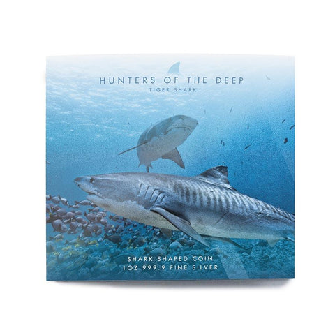 2020 Solomon Islands Hunters of the Deep Tiger Shark Silver Coin