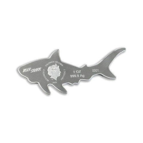 Hunters of the Deep Tiger Shark Silver Coin