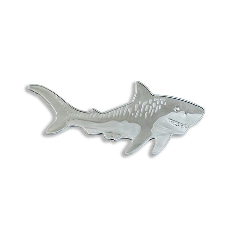 2020 Solomon Islands 1 Ounce Hunters of the Deep Tiger Shark .9999 Shaped Silver Coin
