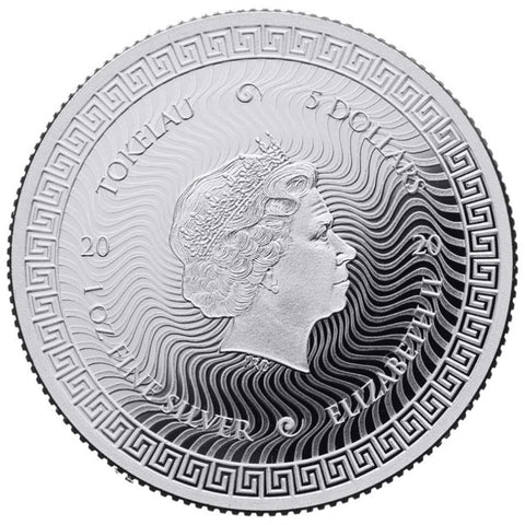 2020 Tokelau 1 Ounce ICON .999 BU Silver Coin