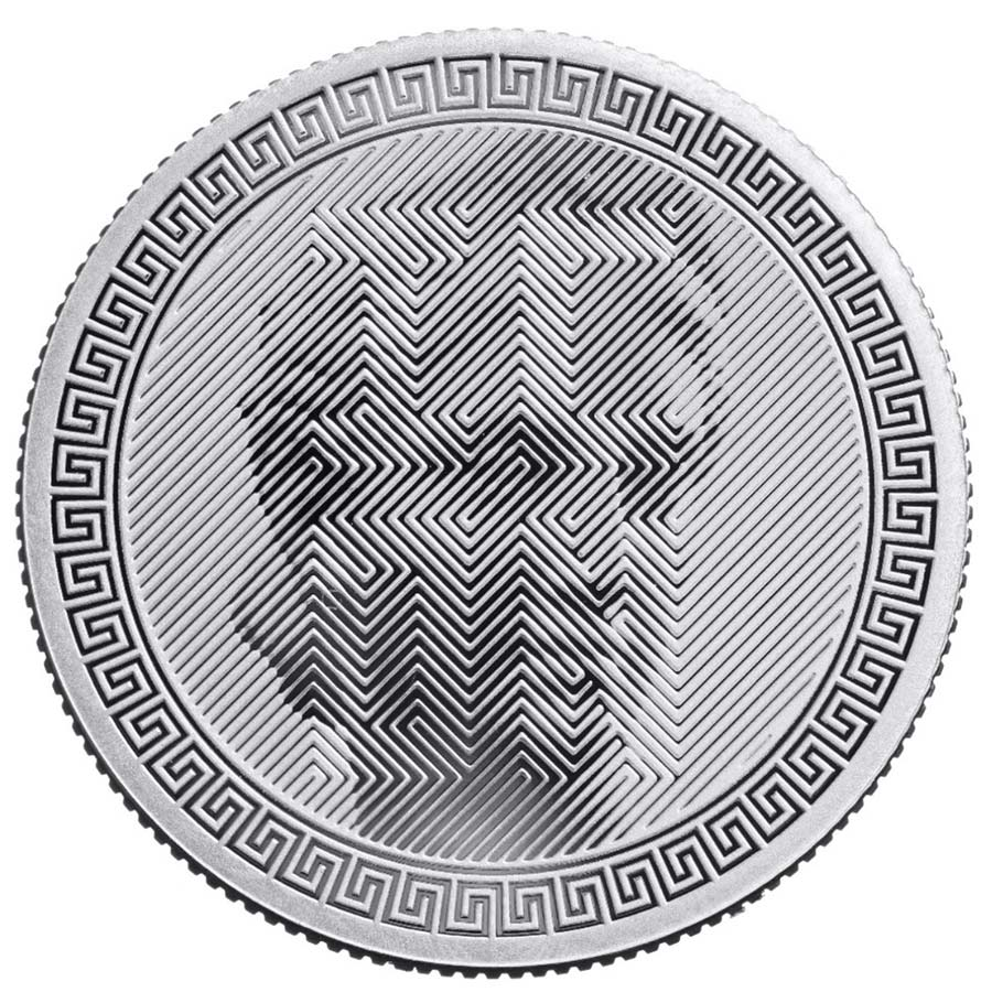 2020 Tokelau 1 Ounce ICON Optical Illusion .999 BU Silver Coin
