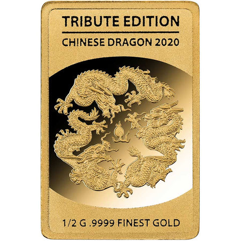 2020 Solomon Islands 1/2 Gram Chinese Dragon .9999 Gold Coin