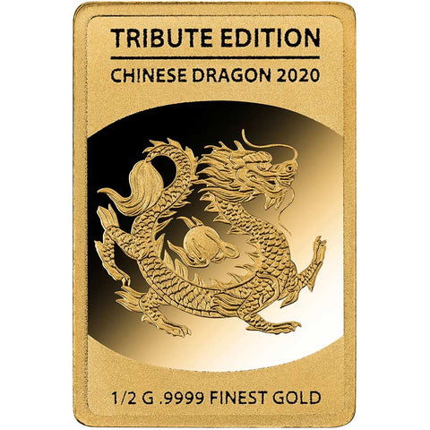 2020 Solomon Islands 1/2 Gram Chinese Dragon .9999 Gold Coin 2