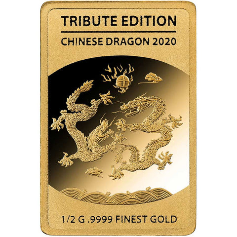 2020 Solomon Islands 1/2 Gram Chinese Dragon .9999 Gold Coin 3