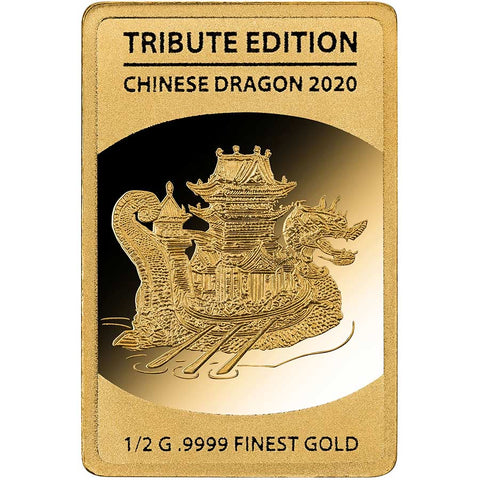2020 Solomon Islands 1/2 Gram Chinese Dragon .9999 Gold Coin 4