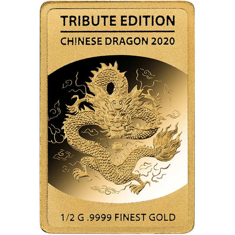 2020 Solomon Islands 1/2 Gram Chinese Dragon .9999 Gold Coin 5