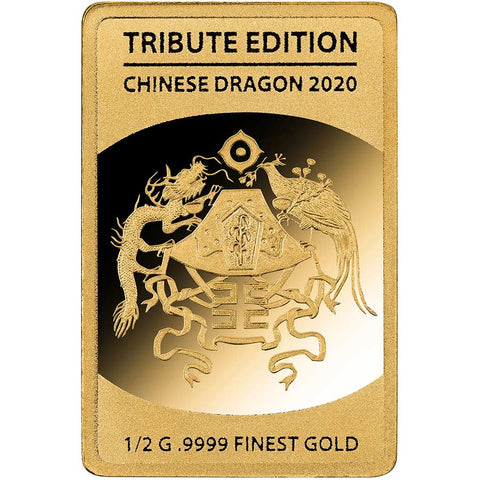 2020 Solomon Islands 1/2 Gram Chinese Dragon .9999 Gold Coin 6