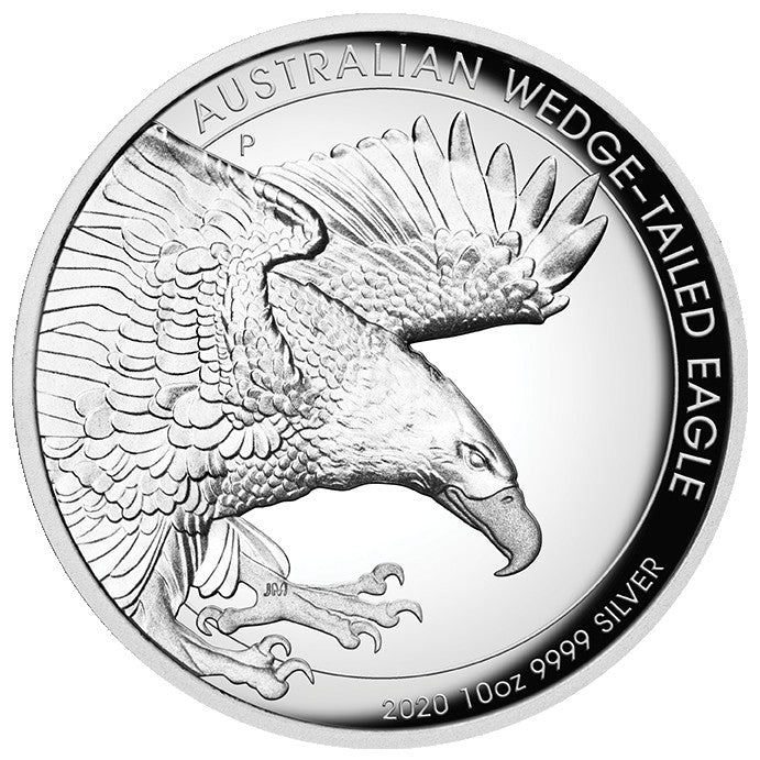 2020 Australia 10 Ounce Wedge Tailed Eagle High Relief Silver Proof Coin