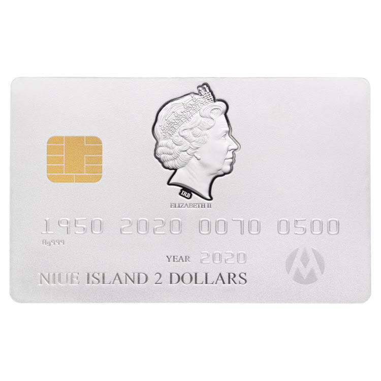 2020 Niue 1.5 Ounce Matte Finish Credit Card Silver Coin