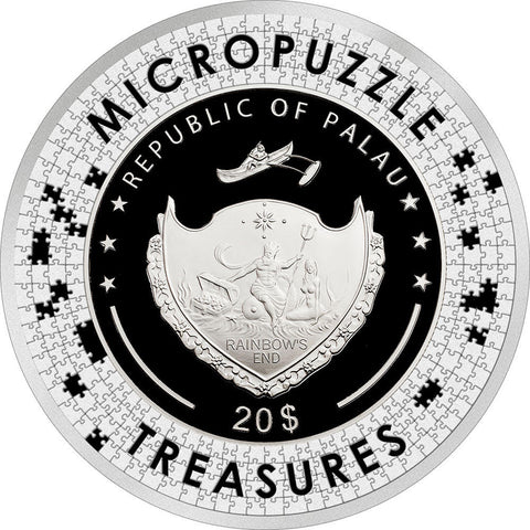 2020 Palau Renoir Two Sisters Micropuzzle Treasures Silver Coin