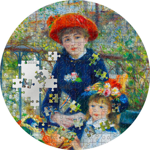 2020 Palau 3 Ounce Renoir Two Sisters Micropuzzle Treasures Silver Coin