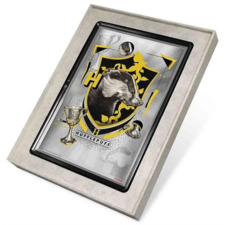 Harry Potter Hogwarts House Banners Hufflepuff Silver Coin Note