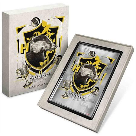 Harry Potter Hufflepuff Silver Coin Note