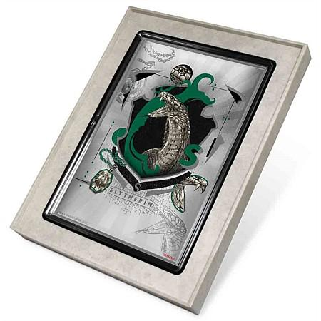 Harry Potter Hogwarts House Banners Slytherin Silver Coin Foil Note