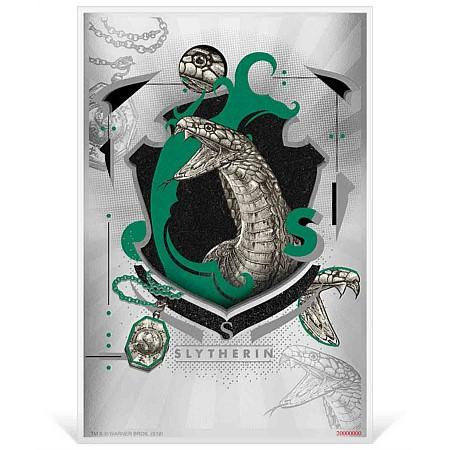 2020 Niue 5 Gram Harry Potter Hogwarts House Banners Slytherin Silver Coin Note