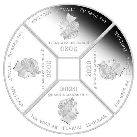 Year of the Mouse Quadrant Silver Proof Coin
