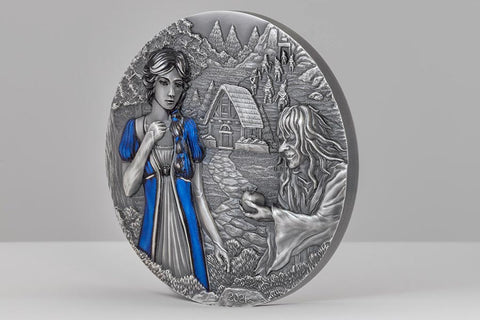 Snow White Ultra High Relief Silver Coin