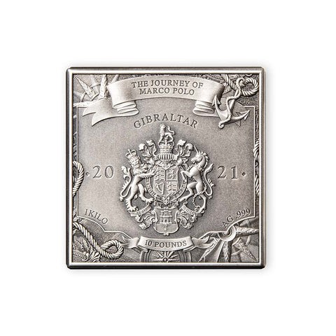 Gibraltar 1 Kilogram Journey of Marco Polo Silver Coin