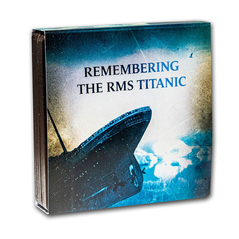 2021 Remembering the RMS Titanic Enamelled Silver Coin