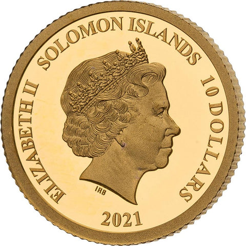 2021 Solomon Islands 4 X 1/2 Gram Smart Collection American Buffalo Gold Coin