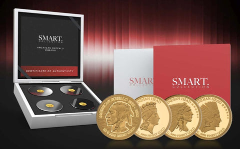 2021 Solomon Islands Smart Collection American Buffalo Gold Proof Coins
