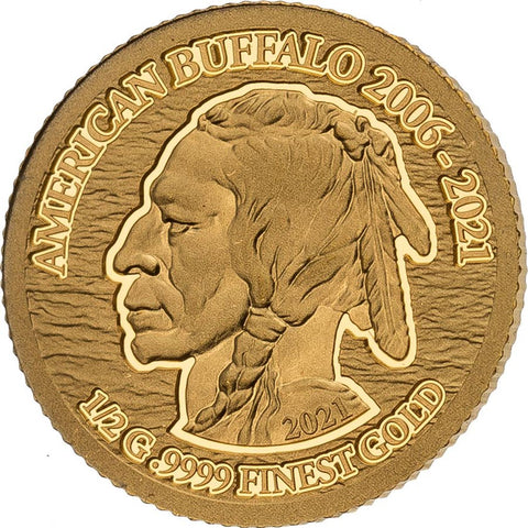 2021 Solomon Islands 4 X 1/2 Gram Smart Collection American Buffalo .9999 Gold Proof Coin