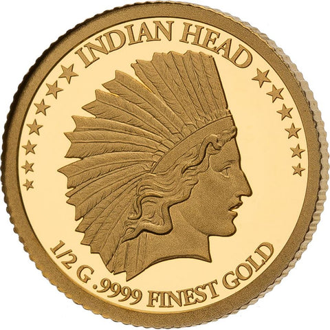 2021 Solomon Islands 4 X 1/2 Gram Smart Collection Indian Head Eagle Gold Proof Coin