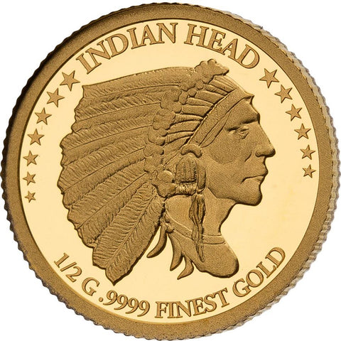 2021 Solomon Islands 4 X 1/2 Gram Smart Collection American Indian Head Gold Proof Coin
