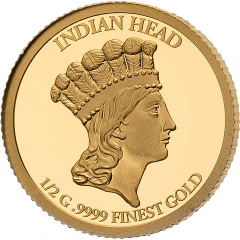 2021 Solomon Islands 4 X 1/2 Gram Smart Collection Indian Princess Gold Proof Coin Set