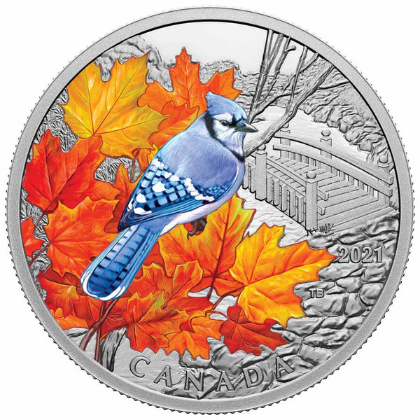 2021 Canada Blue Jay Silver Proof Coin
