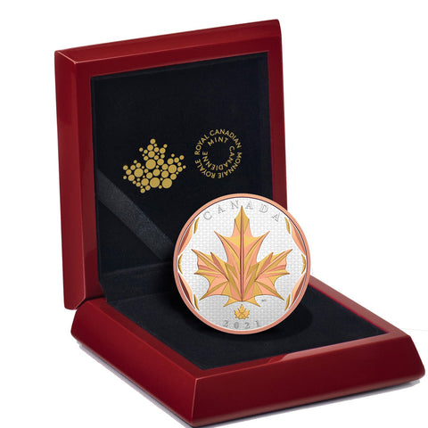 Maple Leaves in Motion Silver Proof Coin