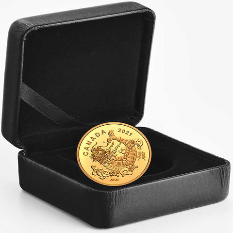 2021 Canada 1 Gram Triumphant Dragon .9999 Gold Proof Coin
