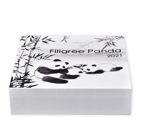 2021 Filigree Pandas Proof-Like Silver Coin